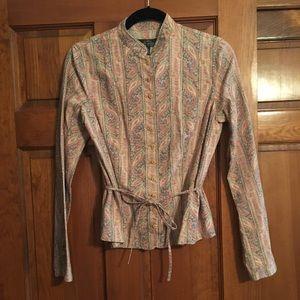 NWOT Ralph Lauren linen blouse